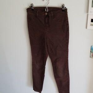 J brand brown cotton pants